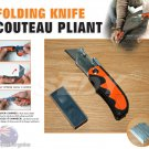 Folding Knife  Utility Knife Speed  Released  Foldable Twine Box  Cutter  & 10 Extra Blades