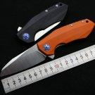 OEM ZT0456 Flipper folding knife bearing D2 blade G10 handle outdoor Survival camping hunting