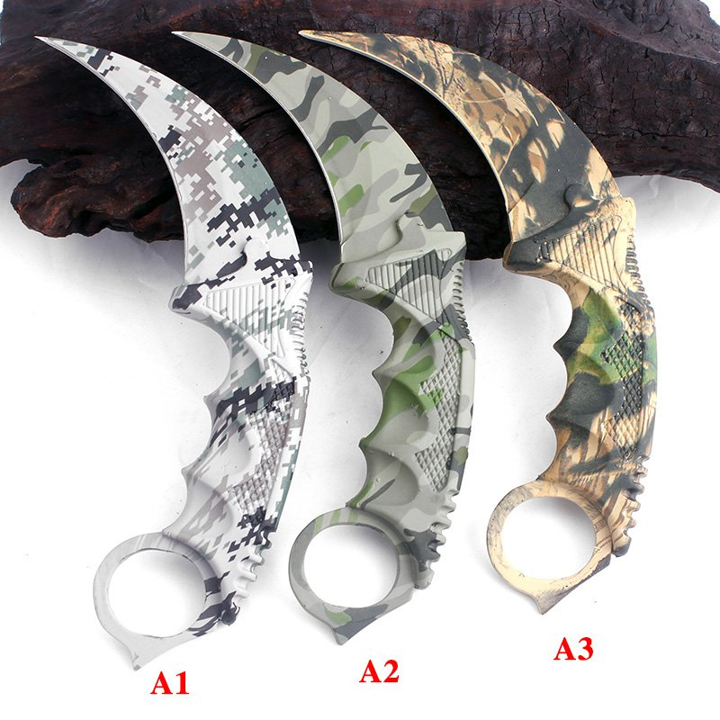 Latest CS GO Karambit Knife camouflage Survival Tactical Fighting folding Knife hunting knives