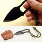 Mini Pocket Knife Finger Paw Self-Defence Survival Fishing Neck Knife Sheath for Outdoor Campin