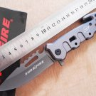 Hot!  utility outdoor survival folding knife rescue camping tactical knive hand multi tools gra