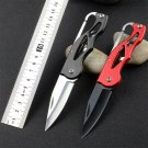 8 Colors Multifunction Rescue Survival Folding Pocket Knife Camping Mini Peeler Keychain Tacti