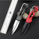 Protable Pocket Knife Folding Hunting camping Tactical Rescue Surrival Key Ring keychain Mini P