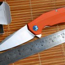 Jufule  ZT0456 Flipper folding knife ball bearing D2 blade G10 handle outdoor Survival camping
