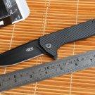 JUFULE OEM ZT0804 ball bearing Folding Knife steel G10 Titanium plating Handle 204P Camping Hun