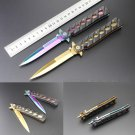 2 Colors Rainbow Gold Folding Blade Knife Outdoor Survival Tools Camping Hunting Portable Knife