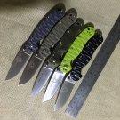 J&J top quality Rat model 2 Tactical Folding Knife AUS-8 steel G10 handle Tactical Camping