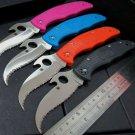 "Custom C12 knife C12SBK2 Matriarch2 Folding Knife 3-5/8"" VG10 Serrated Blade knife Tactic"