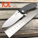 LDT 0562 CF Folding Knife 9CR18MOV Blade Titanizing Steel G10 Handle Ball Bearing Flipper Campi