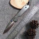 J&J CR Small Sebenza Folding Blade Knife 440 Blade Steel Handle Tactical Pocket Camping Kni