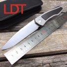 LDT Piston Folding Blade Knife D2 Blade Titanium Handle Ball Bearing Tactical Camping Tools Out