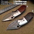Shootey Damascus Folding Knife,Blade Cocobolo+Steel Handle Survival Knives,Mini Rescue Pocket K