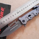 A++ utility outdoor survival folding knife rescue camping tactical knive hand multi tools gray