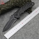 Dcbear Tactical Folding Hunting Knife With 7CR17 Steel Blade Stonewash Handle Survival Rescue K