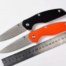 Hot!!!D2 blade G10 handle black and orange colors folding knife outdoor camping survival tool h