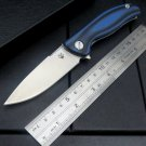 High Quality Retail F3 Small ball bearing folding knife D2 steel blade+Black G10 steel handle c
