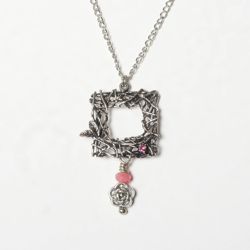 Necklace ruby quartz