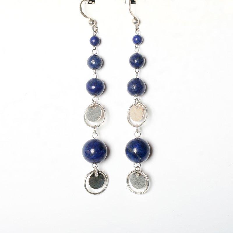 Sterling silver earrings lapis lazuli