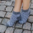 Women M Wool Warm Ankle Socks Stripes Thick