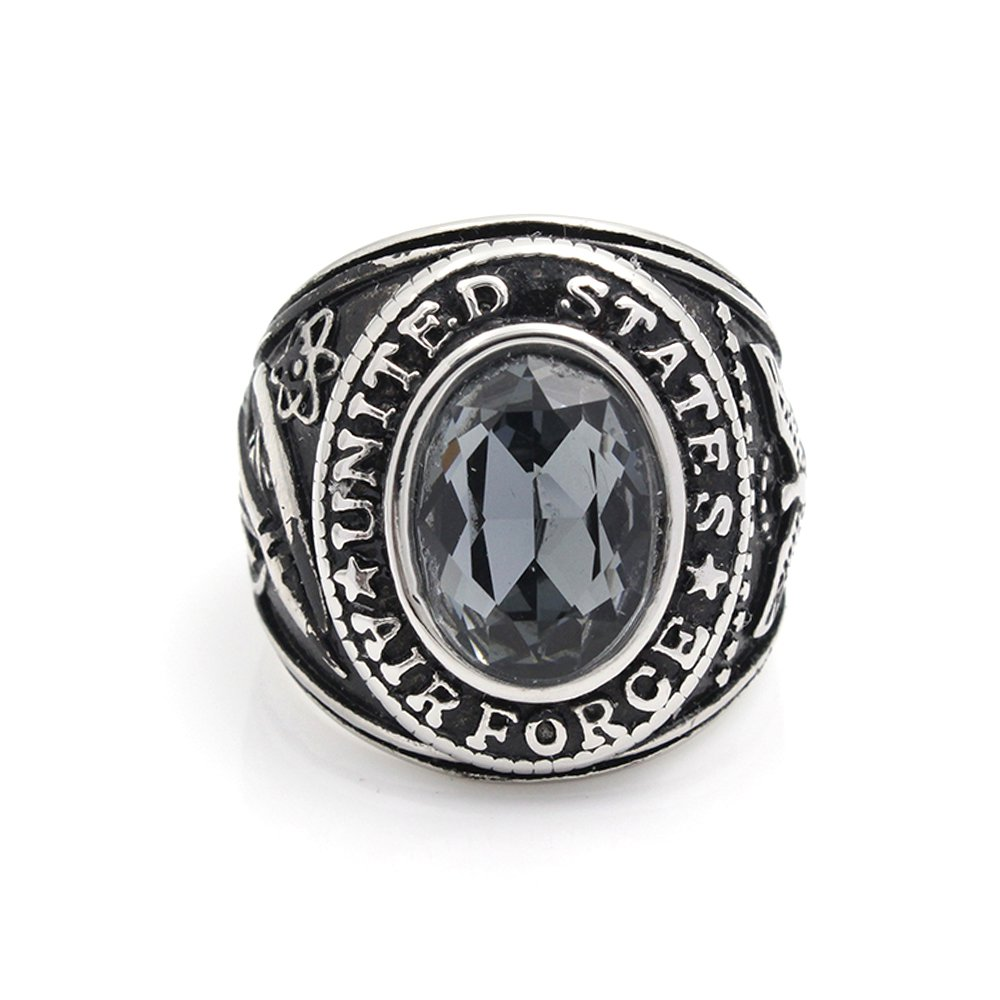 Vintage United States US Air Force Ring USAF Military Stainless Steel Ring