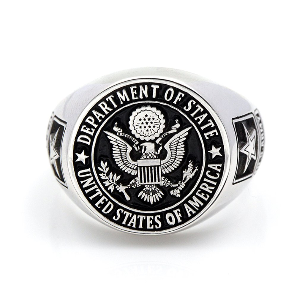United States America US Army Military Real 925 Sterling Silver Ring Custom Souvenir ring