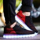 A Couple Of Fluorescent Shoes LED Shoes Usb Shoes Black Luminous Coconut