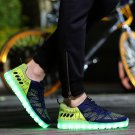 Light Up Shoes For Adults Usb Charging Sneakers Black Green
