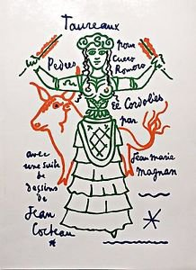 JEAN COCTEAU � Untitled'- Hand Signed in the plate  Lithograph 1963