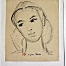 Tourte Suzanne-pencil Drawing on paper Stamped and hand signed