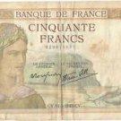 50 francs Cérès Modifié 14-3-1940