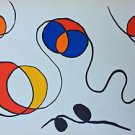 Calder Alexander Wire  (1968) original lithograph From D.L.M art magazine