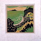 Fumio Kitaoka Woodblock Hand signed and numbered 5/50 - 1959 Woodcut 4 colores