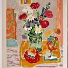 "CAVAILLES Jules- ""Bouquet au pichet vert"" Hand signed and numbered 49/175"