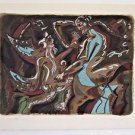 "Andre MASSON  ""ADAM AND EVE"" SIGNED AND NUMBERED 45/99 RARE LITHOGRAPH"