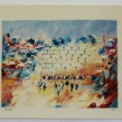 "Edward Ben Avram ""Hakotel""  WESTERN WALL hand Signed + Numbered 12/50 Serigraph"