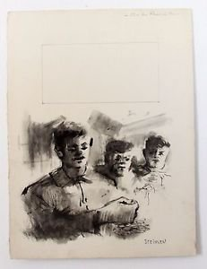 Steinlen Aimé Daniel ORIGINAL LITHOGRAPH Signed in Pate VERY RARE