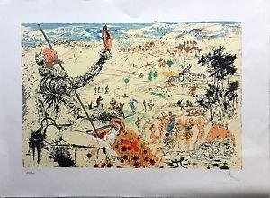 """Salvador Dalir """"Don Quixote L'Age Dor"""" Lithograph Handsignd + numbered 150/300"""