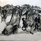 Bernstein Moshe  - The Bride jewish wedding Hand signed and A.P. (artist proof)
