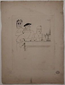 Zig  Brunner- 3 original lithographs very rare STAMPED ORIGINAL ART DECO