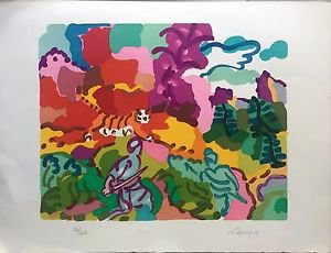 LAPICQUE CHARLES 'LA CHASSE AU TIGRE' HAND SIGNED AND NUMBERED 16/120