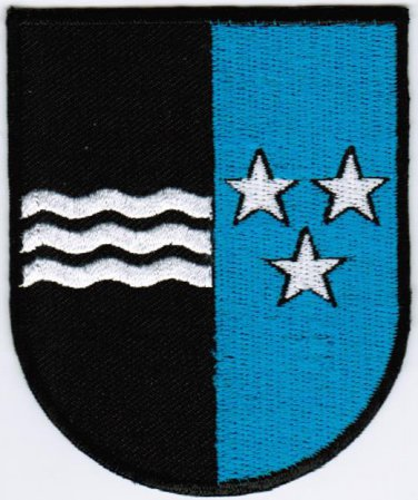 Canton of Aargau Argovia Coat of Arms Switzerland Swiss Confederation Embroidered Patch 2.5x3