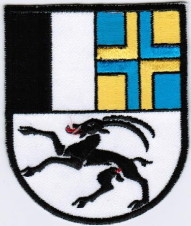 Canton of Grisons Graubunden Coat of Arms Switzerland Swiss Confederation Patch 2.5x3 Embroidered