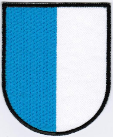Canton of Lucerne Coat of Arms Switzerland Swiss Confederation Iron On Embroidered Patch 2.5x3