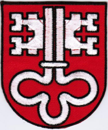 Canton of Nidwalden Coat of Arms Switzerland Swiss Confederation Iron On Embroidered Patch 2.5x3
