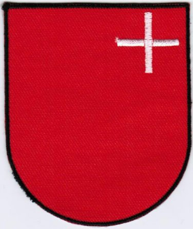 Canton of Schwyz Coat of Arms Switzerland Swiss Confederation Iron On Embroidered Patch 2.5x3