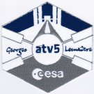 ISS Expedition 40 ATV-5 Space Badge Iron On Embroidered Patch 4x4