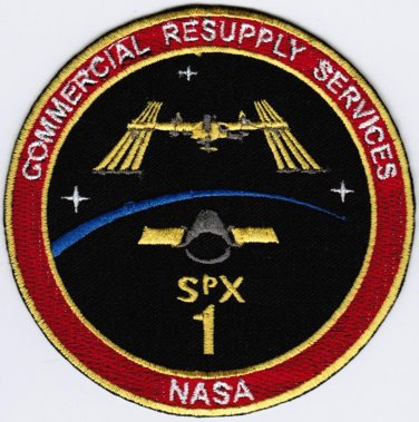 Spacex 09 NASA SPX-1 CRS-1 Commercial Resupply Services Space Embroidered Patch 4x4