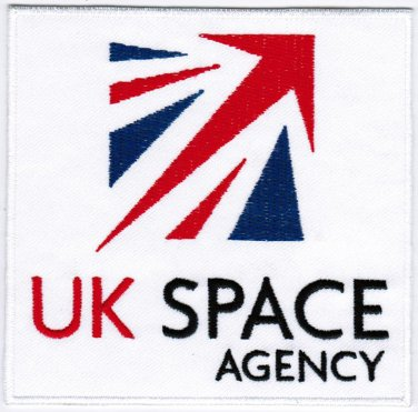 United Kingdom UK Space Agency UKSA Badge Iron On Embroidered Patch 4x4