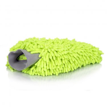 Set of 3 - Dafna Chenille Microfiber Premium Scratch-Free Wash Mitts Green