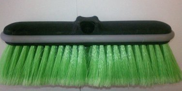 "10"" Green Bristle foam and truck wash brush with protective bumper"